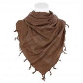 PLO sjaal van 100% katoen. bruin