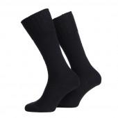 Leger sokken 70% wol zwart