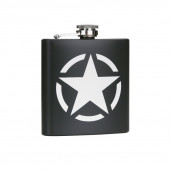 Zakfles 6 ounce/170 ml US Army Star RVS