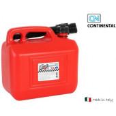 Benzine Jerrycan Met Trechter 5 Liter Rood
