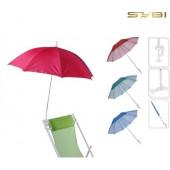 Balkon Parasol - Stoel Parasol - Parasols - lengte 120 cm - Ø135cm -  uv werend