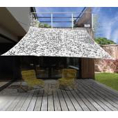 Camouflage schaduwdoek - vierkant zonnezeil - 3x3 m Wit