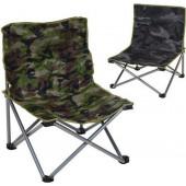 Vissersstoel - Campingstoel Camouflage 58x14x14 Cm - lage zit - tot  70 kg