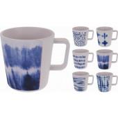 Melamine Beker met handvat blauw