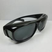 Benson overzet zonne - bril zwart