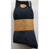 2 Pack  - Boru - Wollen Sokken blauw