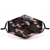 Camouflage mondkapje zonder verstelbaar ringetje