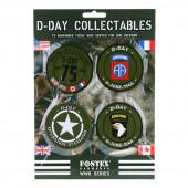 Kaart emblemen D-Day collectables stof