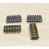 SMD dipswitchen 6 polig DMR-06T