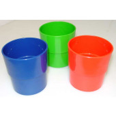 plastic beker rood per 50