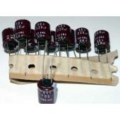 Nippon-Chemicon elco 220uF-50 volt, 10 stuks