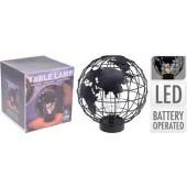 Globe met 9 ledjes op batterijen