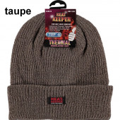 Heat keeper chenille muts taupe
