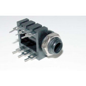 Stereo jack chassis deel, 6mm,