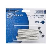 SET SMD E-12 WEERSTANDEN - 1700 st. - 1,0R tot 10M - 0603