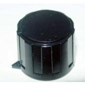 Spantang knop, zwart, met pijlaanduiding.