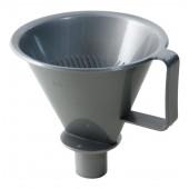 Koffie filter met tuit wit
