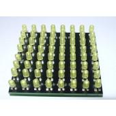 LED Matrix printje 64 oranje LEDS