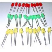 LED 5mm, standaardtypen, rood/groen/geel 10 stuks