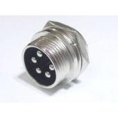 Microfoon chassisdeel 5 polig male.