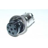 Microfoonplug 6 polig.