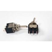 Miniatuur tuimelschakelaars 1 x om, 250 volt, 2 stuks
