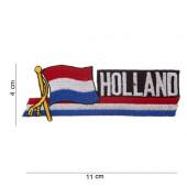 Holland embleem wapperende vlag