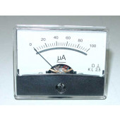 Paneelmeter 0-100uA, DC, 60x46mm