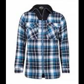 Peter padded shirt azuur blauw ruit