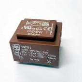 Printtransformator 2 x 12Volt 133mA