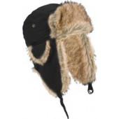 Bontmuts zwart met oorflappen voor volwassenen