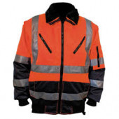 M-wear pilotjack fluorescerend oranje/blauw