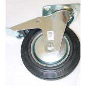 Zwenkwiel met rem, 200mm