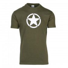 T-shirt met witte ster WWII Military Allied Vehicle Stars