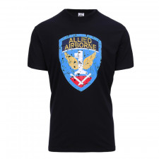 T-shirt Allied Airborne zwart
