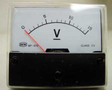 Paneelmeter 0-15volt-gelijkspanning