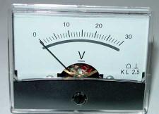Paneelmeter 0-30V 60x46