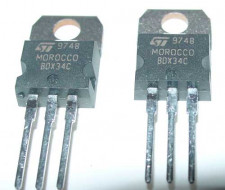 BDX34C PNP darlington transistor, 2 stuks.