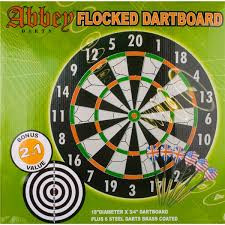 Dartbord Abby flock 45cm