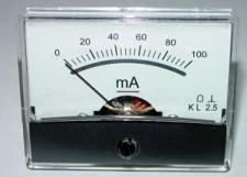 Paneelmeter 60x46, 0-100mA DC