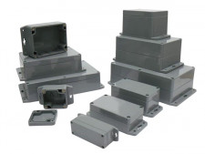 WATERBESTENDIGE ABS-BEHUIZING MET MONTAGEFLENS 115x65x40mm G304MF