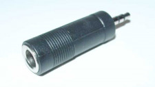 Adapter jack 3,5mm male-6mm female, stereo
