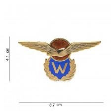 Embleem metaal KLU oranje/blauw 18751 #6090
