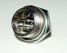 Microfoon chassisdeel, 8 polig, male.