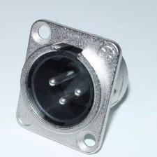 XLR 3 polig chassisdeel Neutrik, male