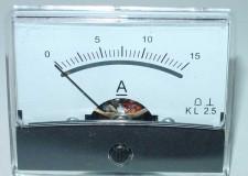 paneelmeter 60x46 0-15Amp