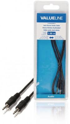 Stereo Audiokabel 3.5 mm Male - 3.5 mm Male 1m